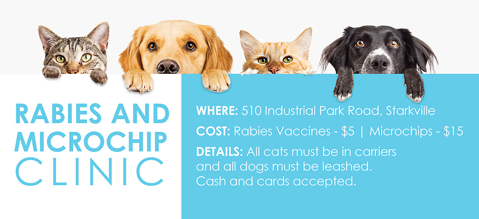 Rabies & Microchip Clinic – October 26